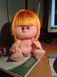 Волосы из атласной ленты для куклы