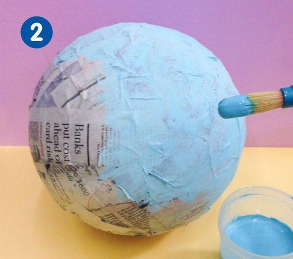 Как сделать макет земли из бумаги 5 класс