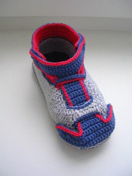 钩针:儿童运动鞋 - maomao - 我随心动