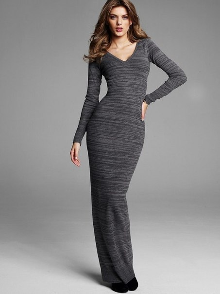 Шьем длинное трикотажное платье. Выкройка…. (3 фото) - картинка