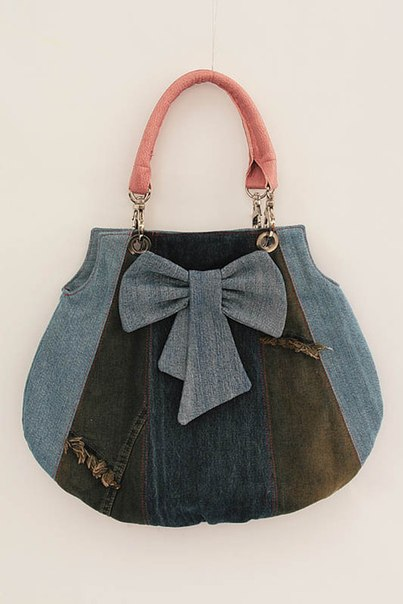 Шьем джинсовые сумочки. Идеи для вдохновения…. (8 фото) - картинка
