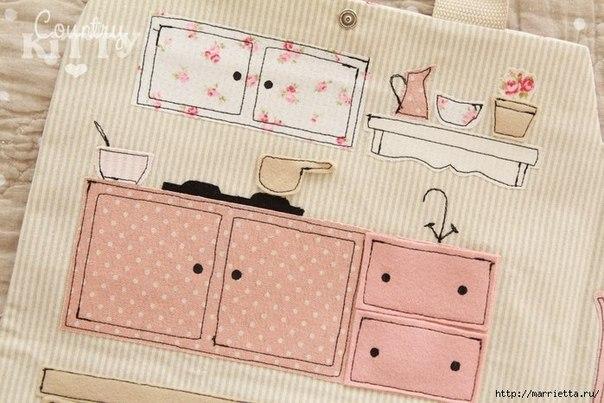 Сумка-домик для куклы. Идея для вдохновения....