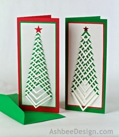Открытки киригами новый год