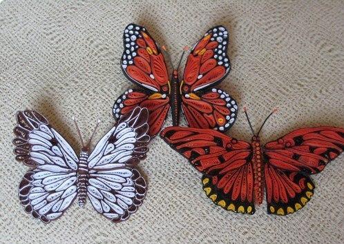 Бабочки квиллинг.