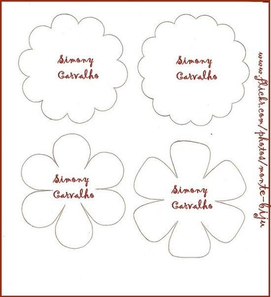 Цветы своими руками схемы из ткани