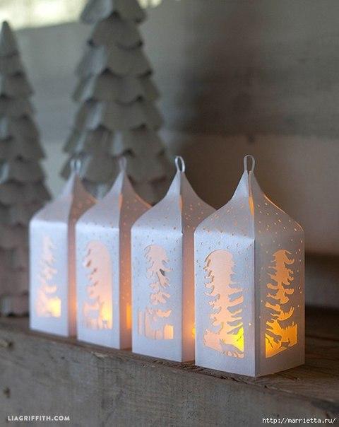 Бумажные фонариков своими руками