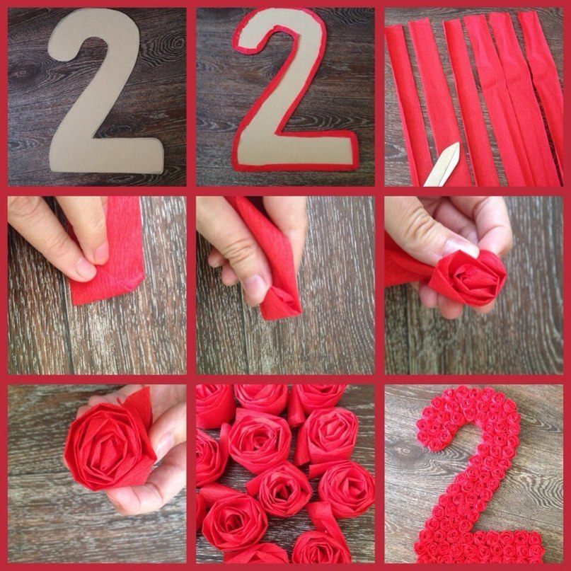 Как сделать цифру 3 своими руками