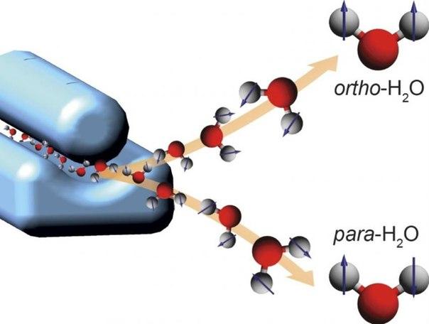 и пара- молекул воды.