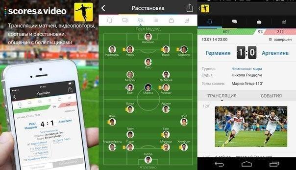 мобильные приложения, Sports.ru