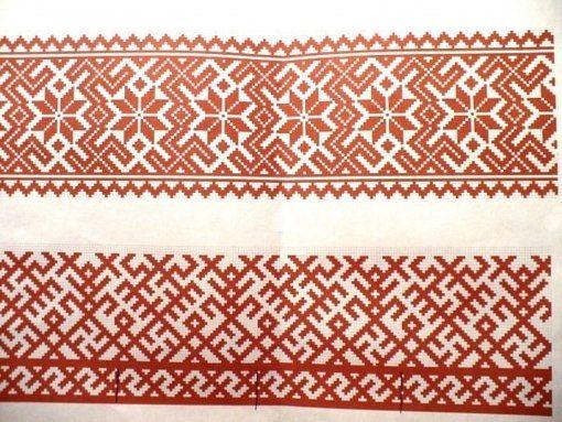 Схемы кубанской вышивке