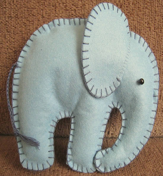 Мастер класс слоника из фетра