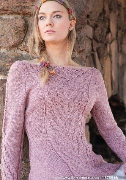 Нежный пуловер (7 фото) - картинка