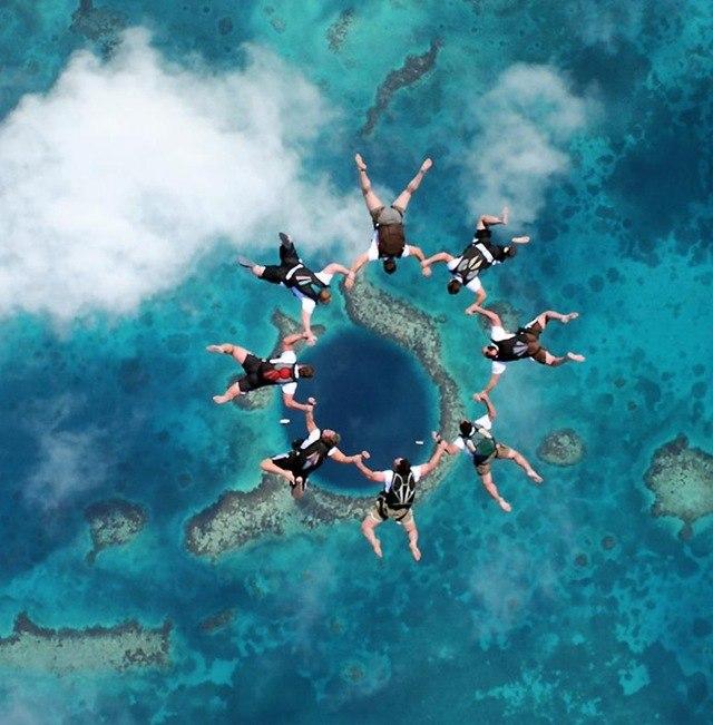Велика блакитна печера з повітря