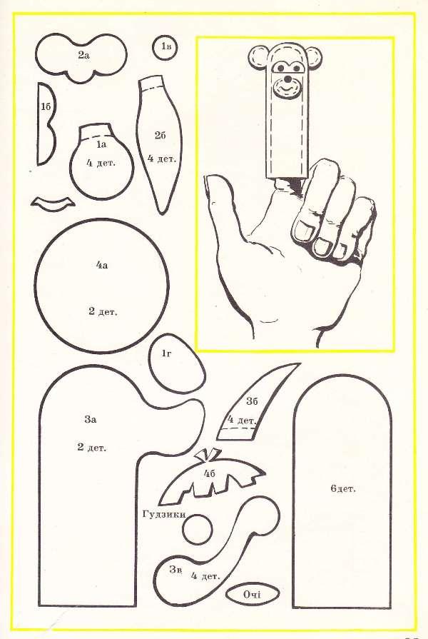 Шаблоны пальчиковый театр своими руками из фетра