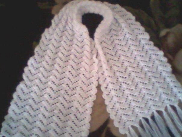 Ажурный шарф крючком. Схема..