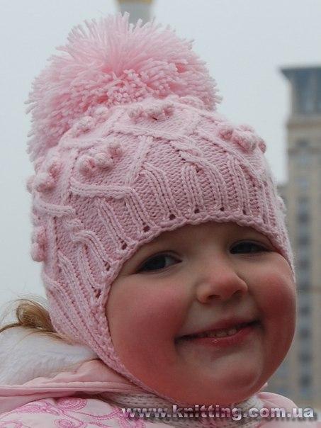 Модели детских вязаных шапок,