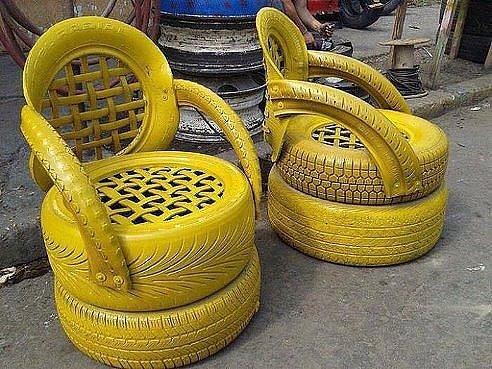 Кресло из шин мастер