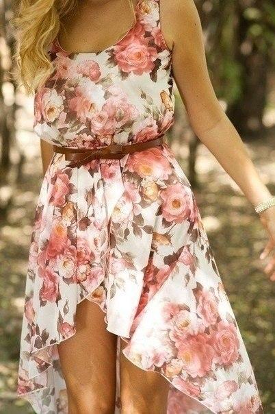Фото платья с цветочками