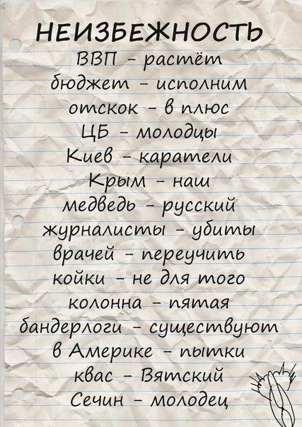 Мнения подписчиков сайта Ведомости по мотивам выступления президента РФ Путина В. В.