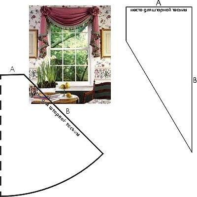 Шьем шторы для кухни сами модели выкройки