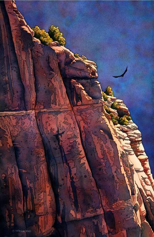 Американский художник-акварелист Jonathan Frank