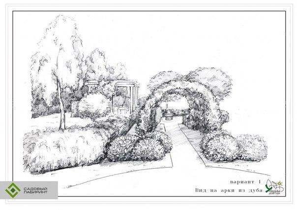 Подготовить эскиз проект ландшафтного дизайна фрагмента сквера
