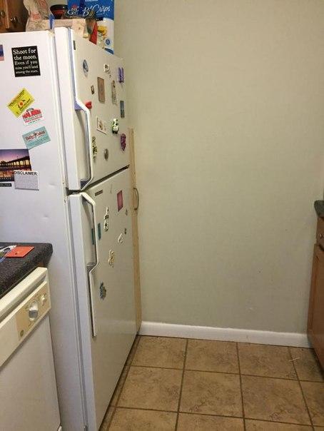 Есть место за холодильником? Есть идея как его использовать. #DIY_Идеи