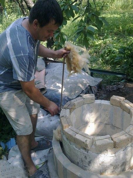 Тандыр своими руками. Потребуется: огнеупорный кирпич, глина, цемент. #DIY_Идеи