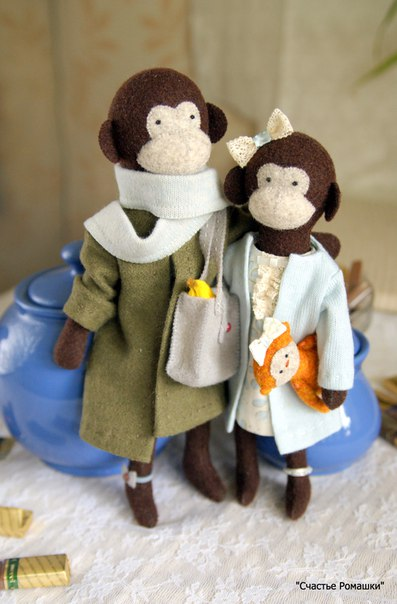 Фетровые обезьянки! (9 фото) - картинка