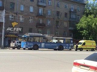 Пассажиры троллейбуса пострадали в ДТП