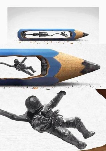Скульптура из карандаша, прикольные статусы для девушек. Прикольные