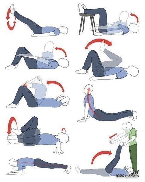 Упражнения для красивого пресса