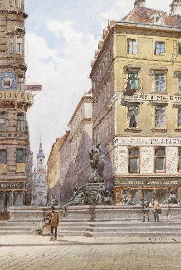 Вена в акварелях 19 века от Karl Wenzel Zajicek.