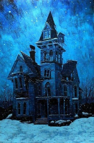 """""""Мрачно-синие"""" картины от художника Daniel Danger родом из новой Англии"""