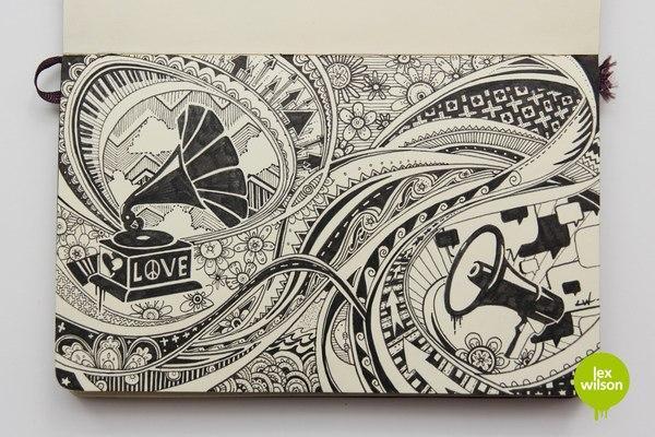 Тетрадь художника-иллюстратора Lex Wilson