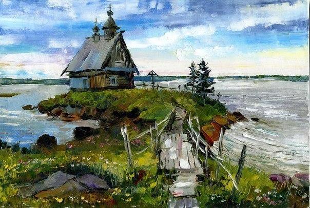 Прекрасные пейзажи от художника Марины Ханковой
