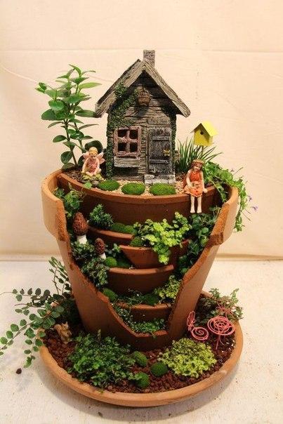 """Великолепные композиции """"миниатюрные сады"""""""