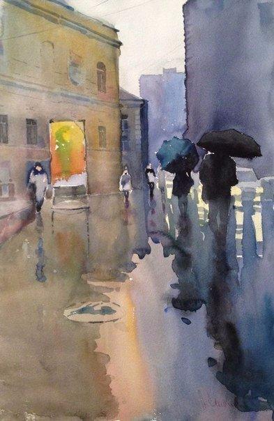 Андрей Есионов - российский акварелист, отменный рисовальщик, известный мастер портрета и городского пейзажа