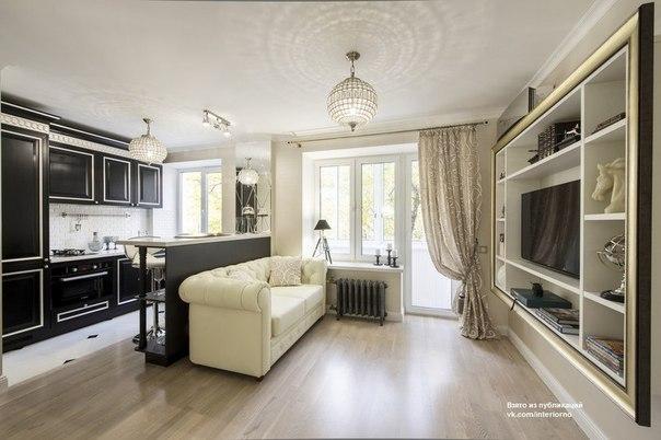 Малогабаритная однокомнатная квартира площадью 28,8 кв.м…. (10 фото) - картинка