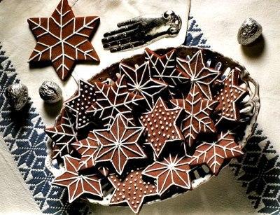 Печенье новогоднее «Снежинки из шоколада»