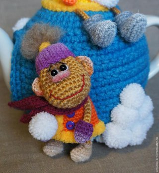 связать обезьянку на новый 2016 год своими руками спицами