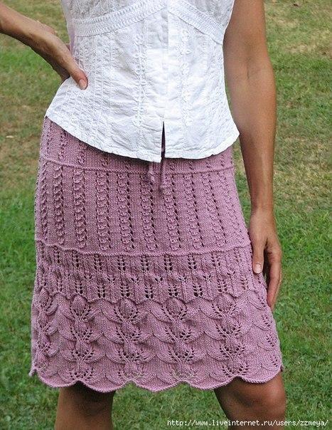 ажурная юбка спицами - Самое