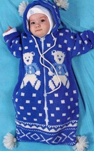 Delicadezas en crochet Gabriela: Capullo de bebé en dos agujas