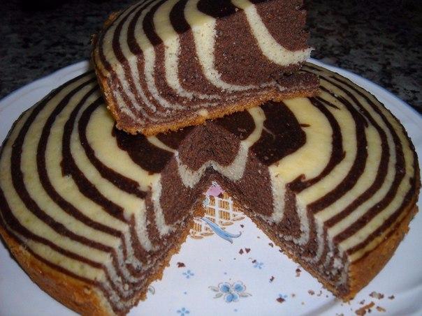 Бисквит зебра рецепт с фото пошагово в домашних условиях 86