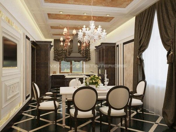 Кухня-столовая в классическом стиле (5 фото) - картинка