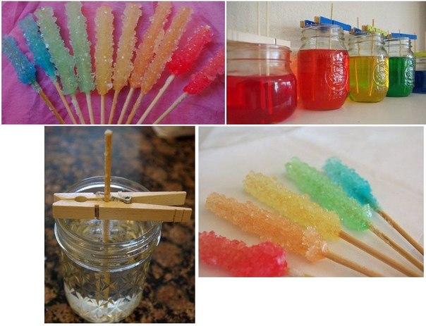 Выращивания кристаллов из сахара в домашних условиях