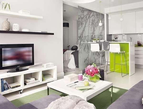 El interior del apartamento por el área 40 del sq. m.