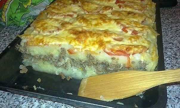 Запеканка из картофеля с фаршем без сыра