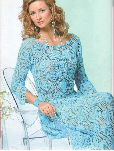 Платье Журнал МОД 517 вязание