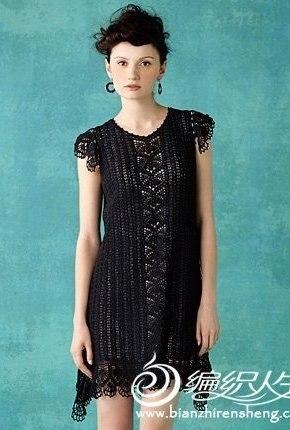 Платье крючком (3 фото) - картинка
